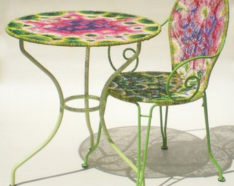 Chair and table pedestal table