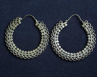 Great pair of tribal hoop earrings