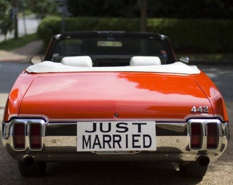 JUST MARRIED Decal / Sticker / Vinyl Lettering