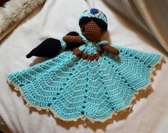 Pretty Princess Jasmine Blanket Buddy / Lovey / Security Blanket