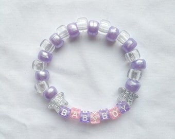 Babyboy, Purple Beaded Bracelet