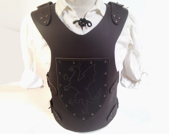 Leather armor for child, with dragon motif