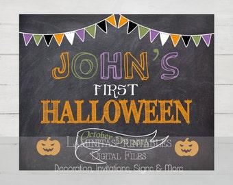 My first halloween, halloween chalkboard, first halloween, first halloween boy, first halloween girl, halloween decor, halloween printables