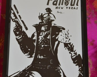 Ranger from Fallout New Vegas A4 Drawing (Lustre Print)