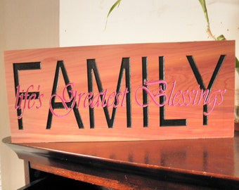 Family wood sayings, Inspirational saying signs Motivational wooden signs Family wood signs Family and friends signs Lifes greatest blesses