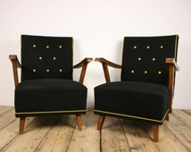 Antique furniture, gothic furniture, black upholstered armchairs,  shabby chic furniture, vintage chairs, black chair, upholstery, goth