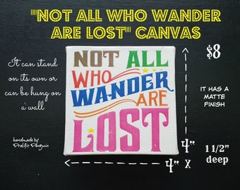 Not all you wander are Lost Canvas block