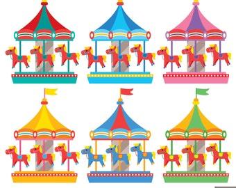 Clip Art Carousel Clipart carousel clipart etsy digital carnival clipart