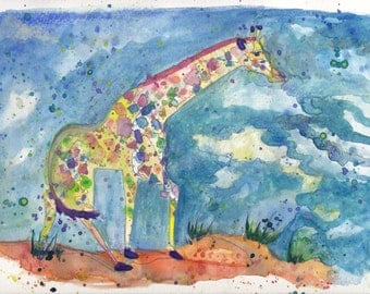 PRINTS Rainbow Giraffe
