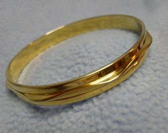 Vintage Monet Gold Bangle Bracelet