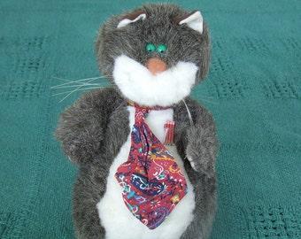 Nerdy Cat Stuffed Animal; Geek Cat Stuffed Animal