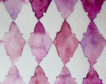 Digital Download : Moroccan Inspired Pink Pattern