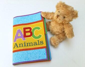Soft Book - ABC Animals Book - Alphabet Book