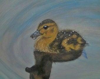 Duck Painting Original Acrylic