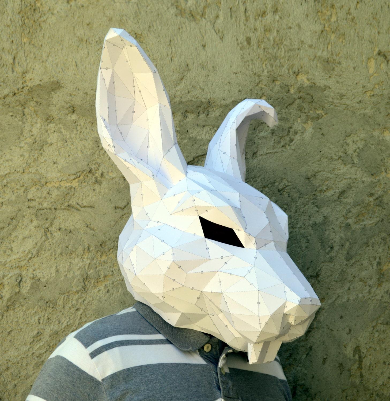 Make Your Rabbit Mask.   Papercraft Rabbit   Papercraft Mask ...