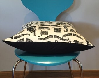CLEARANCE cushion covers - moustache print