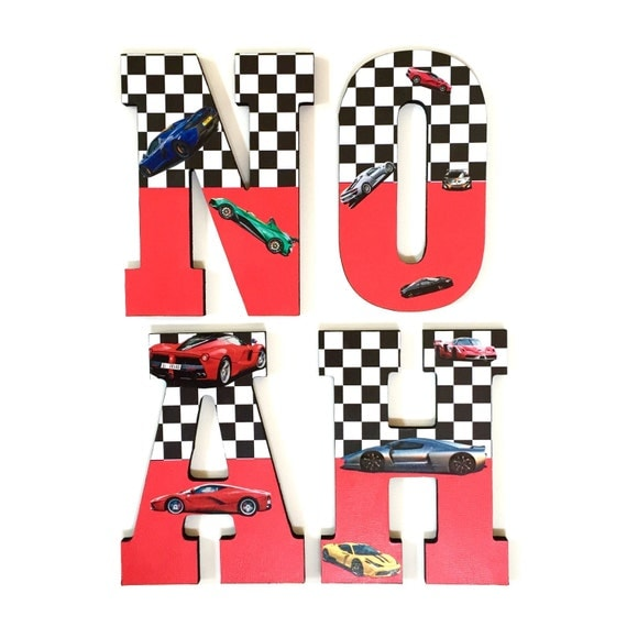 race themed letters race car nursery super cars wood letters