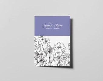 Memorial Card Template (A5 booklet)