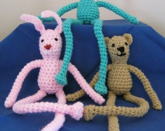 Leggy Menagerie Crochet Pattern