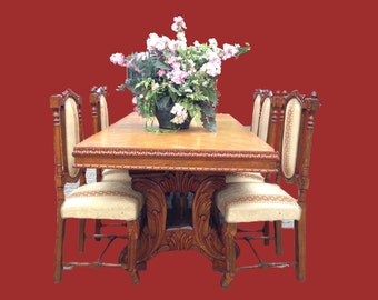 Complete French dining room set