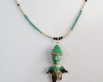 Japanese Koi Fish Necklace