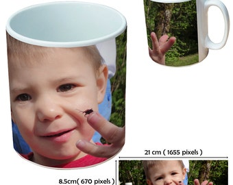 Custom picture mugs cup as a special personalised gift for all birthday occasions