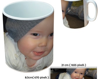 Custom picture mugs cup as a special personalised gift for all Mother and Father's Day occasions