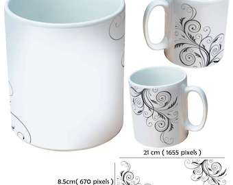 Custom pattern design mugs cup as a special personalised gift for all occasions