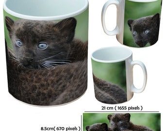 Custom animal leopard2 picture mugs cup as a special personalised gift for an animal lover for all occasions
