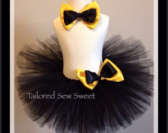 Emma Wiggles Tutu with matching Hair Bow, Birthday Party, Special Occasion,