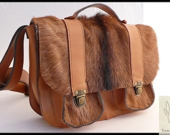 Satchel Leather & Fur