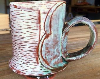 Hand built Earthenware mug