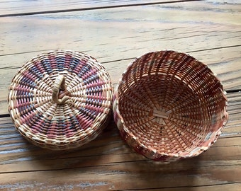 Handwoven all natural material baskets