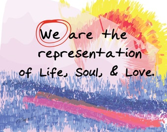 Who Are We? Inspirational Words And Art. Business Art, Spiritual Art, Religious Art, Home Decor, Inspirational Quotes, Love Art, Yoga