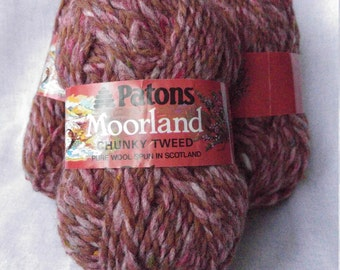 Patons Moorland yarn wool purple upcycled