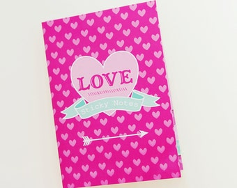 Action Sticky Notes Book Pink ASN12