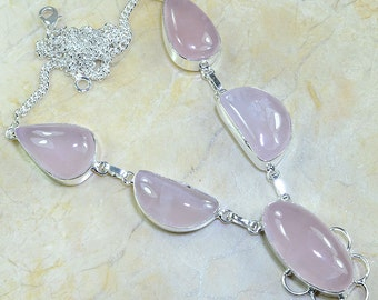 Rose Quartz Necklace 20 1/2""
