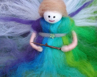 Cute Wool Felt Fairy, Nolana.  Little Bell, felt fairy