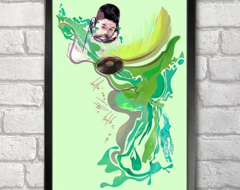 Nujabes - Feather Poster Print A3+ 13 x 19 in - 33 x 48 cm Buy 2 Get 1 Free