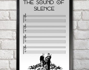 The Sound of Silence Poster Print A3+ 13 x 19 in - 33 x 48 cm Buy 2 Get 1 Free - Simon & Garfunkel