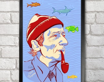 Jacques-Yves Cousteau Poster Print A3+ 13 x 19 in - 33 x 48 cm Buy 2 Get 1 Free
