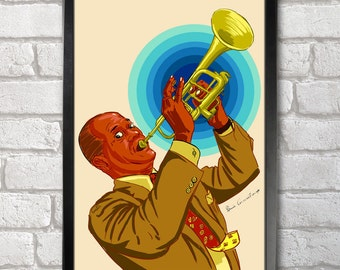 Louis Armstrong Poster Print A3+ 13 x 19 in - 33 x 48 cm Buy 2 Get 1 Free