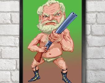 Ernest Hemingway Poster Print A3+ 13 x 19 in - 33 x 48 cm Buy 2 Get 1 Free
