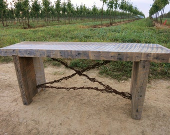 Exotic Barbed Wire Primitive Bench