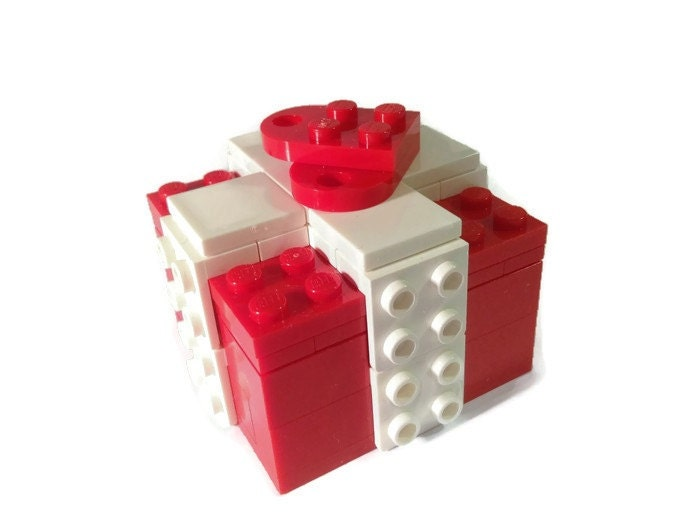 Lego Valentine Wedding Ring Holder Box Gift Heart Gift Box