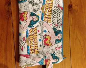Wonder Woman Inspired mobile, cell phone pouch - padded