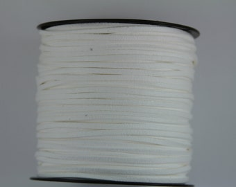 10 yards of suede cord, faux suede cord, cord for jewelry,  cord for bracelet, suede cord for necklace, faux suede string, white suede cord