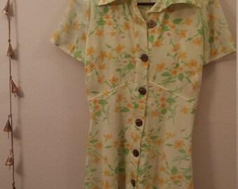1950's-1960's Floral Dress
