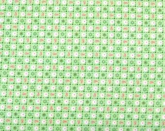 Quilting Treasures - Pink Ribbon Companion - Green Checks - 1649-25557-H - 1 yard