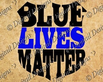Blue Lives Matter Svg Png Dxf Eps Cut File Printable Clipart Car Decal template